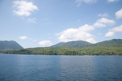 Pulau Weh dari atas kapal